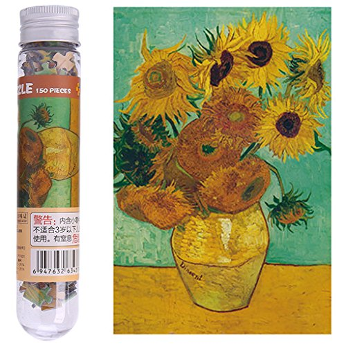 Sunflowers Reproduction - Bettal 3D Jigsaw Puzzles 150 Pcs Sunflower Painting Reproduction for Adult Kid, Paper