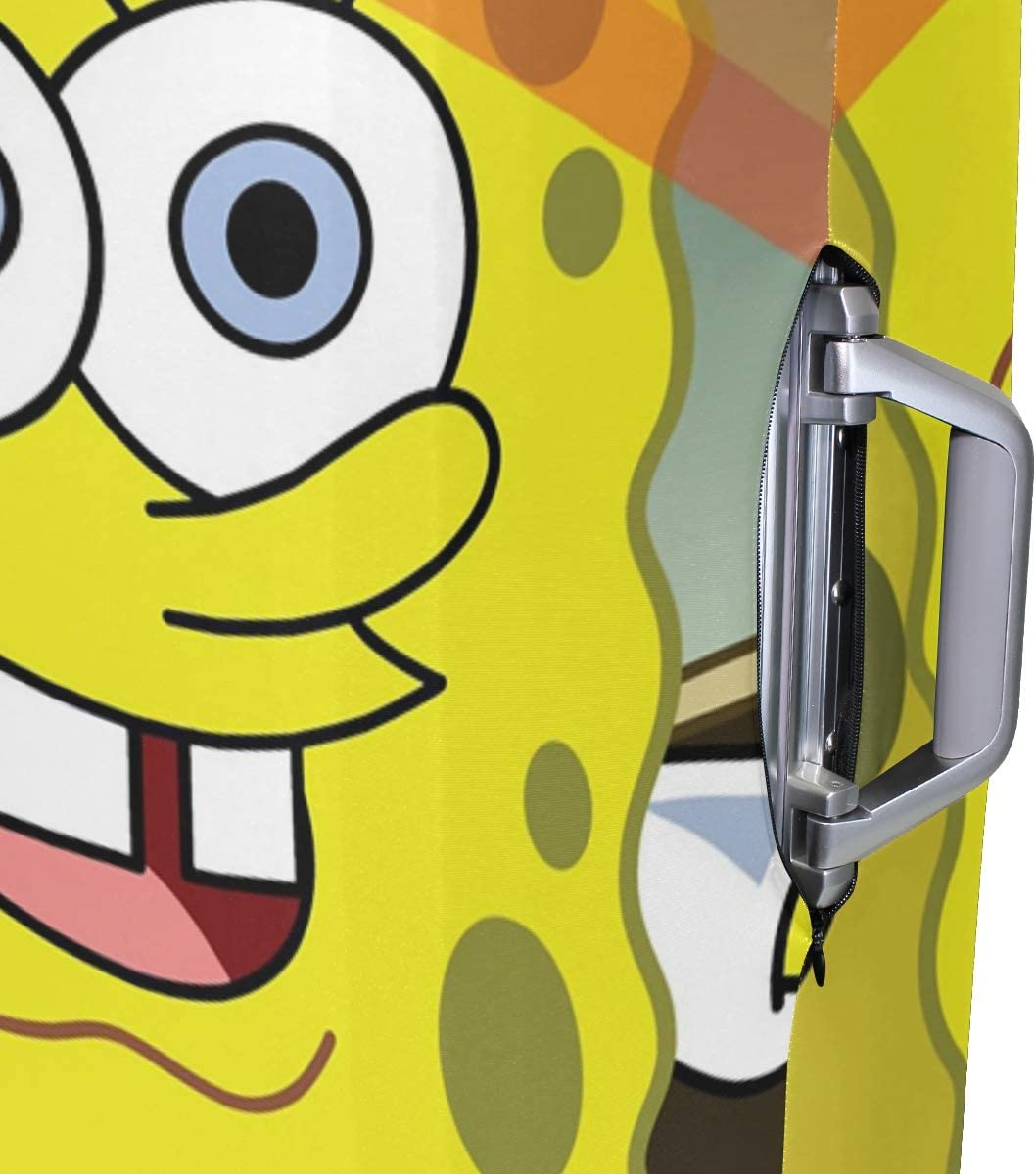 Spongebob Squarepants Travel Luggage Cover Suitcase Protector Fits 26-28 Inch Washable Baggage Covers