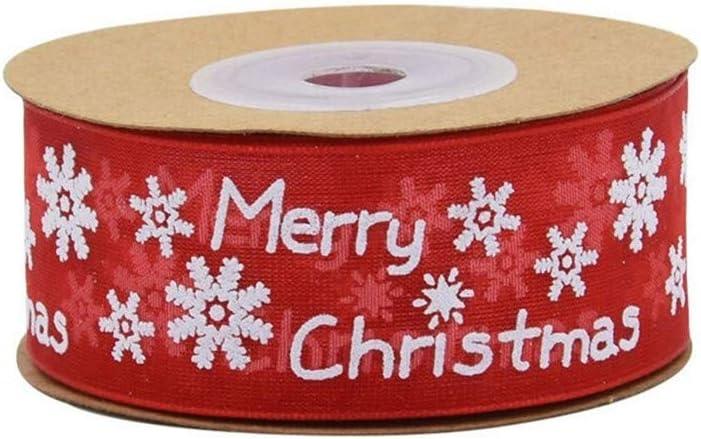 Christmas Ribbon Snowflake Deer Pattern Craft Trim Ribbon DIY Gift Wrapping Tape