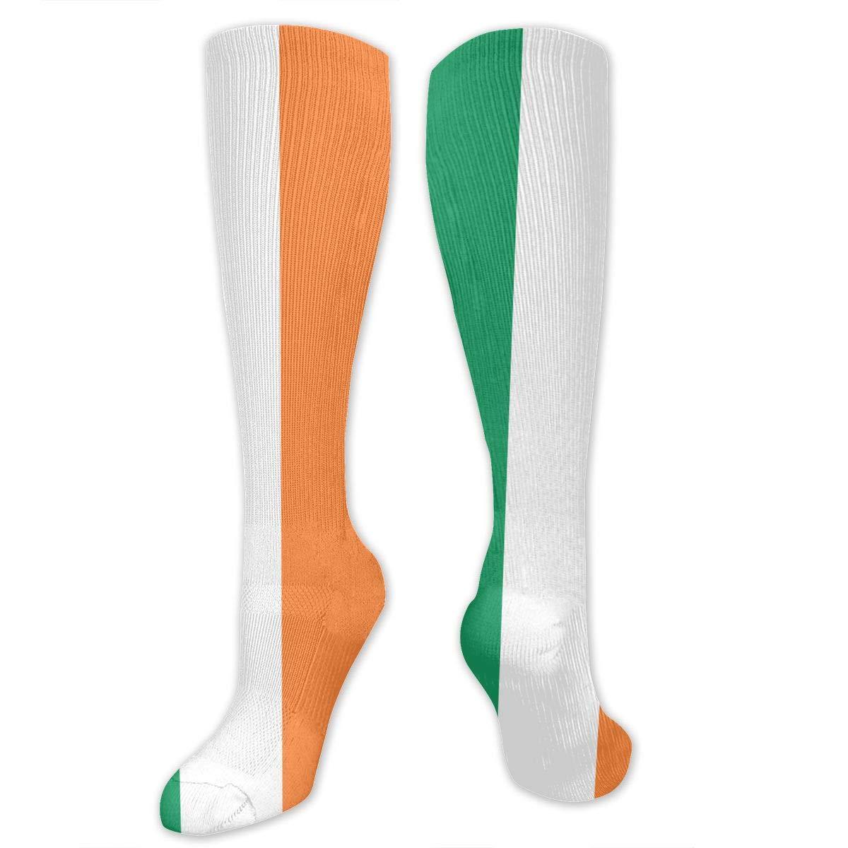 Unisex Irish Flag Knee High Compression Thigh High Socks Soft Socks
