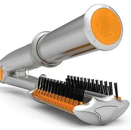 rizador de pelo cerámica termostato Seco y húmedo cepillo para el pelo Rotación de hierro Plancha