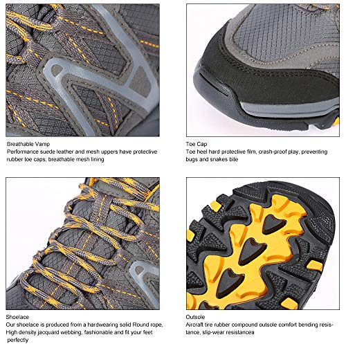 Pictures of The First Outdoor Men's Hiking Shoes 851802H01M47 Grey/Yellow 4