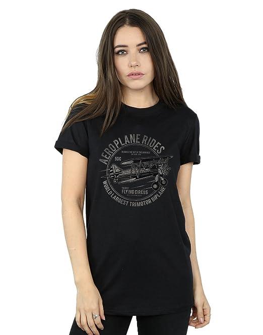 Drewbacca Mujer Aeroplane Rides Camiseta del Novio Fit: Amazon.es: Ropa y accesorios