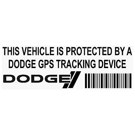5 x ppdodgegpsblk GPS dispositivo de seguimiento de seguridad ventana pegatinas 87 x 30 mm-