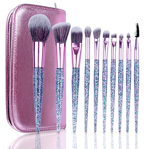 TTRWIN Make Up Brushes Premium 10 Pcs Synthetic Foundation P
