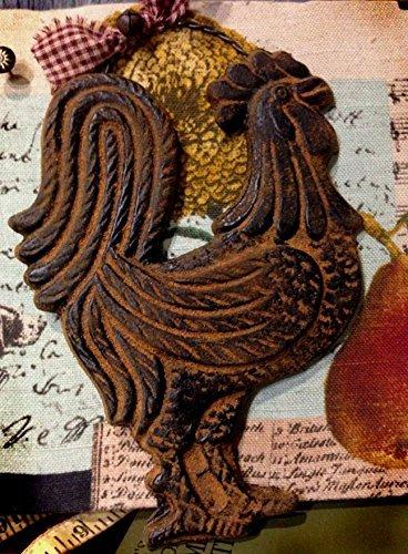 Blackened Beeswax American Folk Art Rooster Cinnamon Scented with Saigon Cinnamon Rub ()