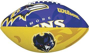 WTF1534IDBA F/ür Kinder Baltimore Ravens WILSON Football mit dem Logo des NFL Junior Teams