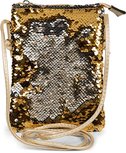 Color sequins Gold Silver Silver Blue shoulder reverse ladies with bag bag shoulder 02012240 mini handbag bag styleBREAKER wHZ7qXRnq