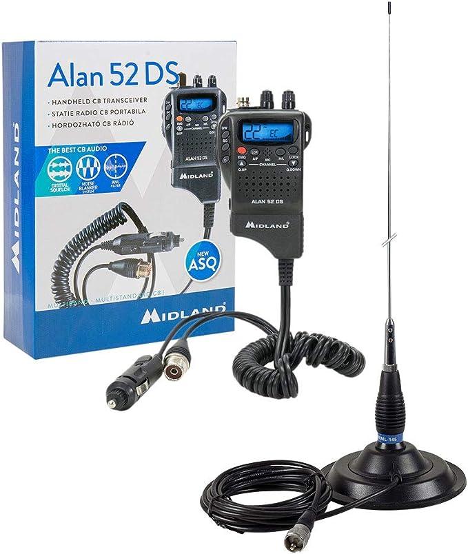 Estación de Radio CB Midland Alan 52 DS + Antena CB PNI ...
