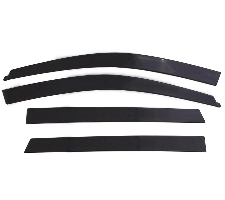 Auto Ventshade 994004 Low Profile Dark Smoke Ventvisor Side Window Deflector, 4-Piece Set for 2009-2018 Dodge Ram 1500-3500; 2019 Ram 1500 Classic | Fits Crew Cab