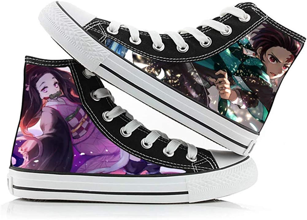 Demon Slayer Kimetsu no Yaiba Kamado Tanjirou Nezuko Cosplay Shoes Costume Canvas Shoes Sneakers