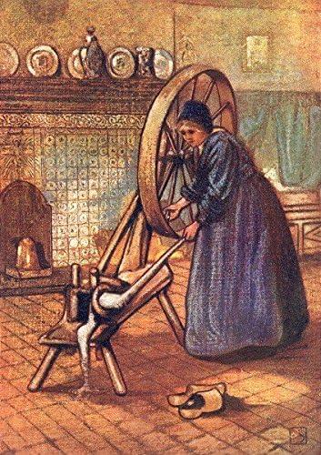 Países Bajos Utrecht. Un Laren spinning-wheel Old Vintage envejecido – 1904 – Lienzo Prints de países bajos: Amazon.es: Hogar