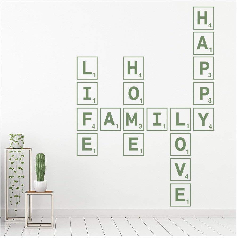 azutura Familia de Love Life Vinilos Azulejo del Scrabble Pegatina Decorativos Pared Sala de Estar Decoración Disponible en 5 tamaños y 25 Colores X-Grande Blanco: Amazon.es: Hogar