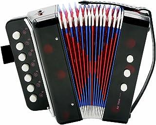 Dilwe Fisarmonica, 7-Key 2 Bass Mini Piccola Fisarmonica Educativa Strumento Musicale Giocattolo per Bambini