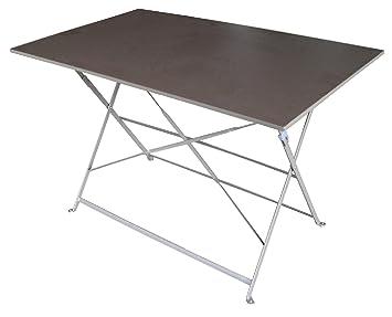 Tavolo Giardino Ferro Pieghevole.Tavolo Da Giardino In Ferro Pieghevole Amazon It Giardino E