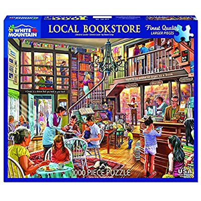 White Mountain Puzzles Local Bookstore Jigsaw Puzzle, Multicolor: Toys & Games
