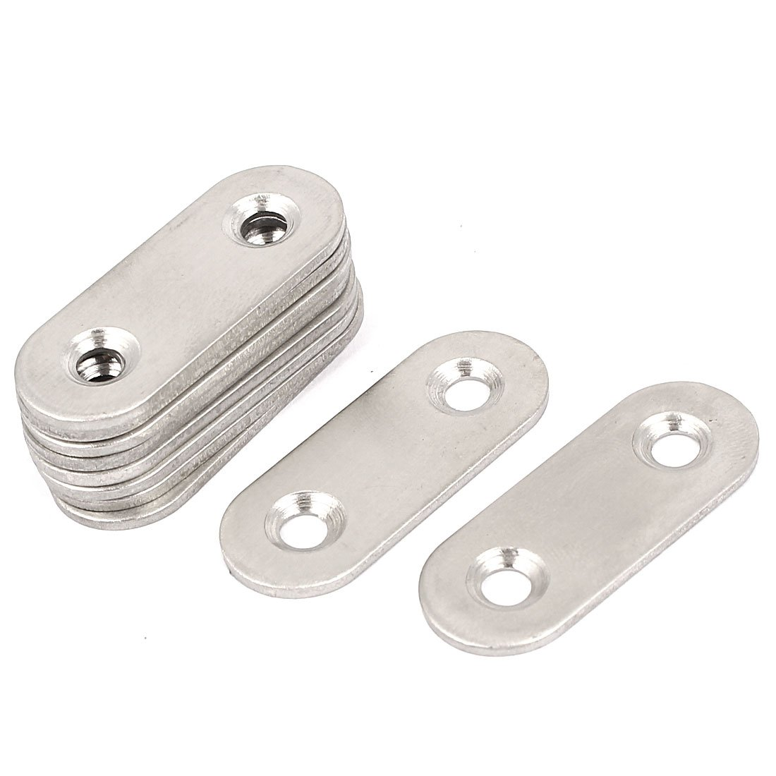 uxcell Flat Mending Plates Repair Fixing Joining Brackets 40x15mm 10pcs a16020200ux0536
