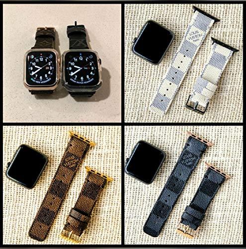 - Louis Vuitton Apple Watch Band Series Re-purposed Handmade Enhanced w Premium Calf Leather