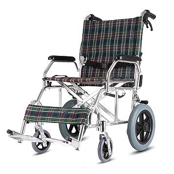 MLX Silla De Ruedas Manual, Plegable Y Ligera, Portátil, Ultraligera, Para Niños Mayores, Con Discapacidad (Color : A): Amazon.es: Salud y cuidado personal