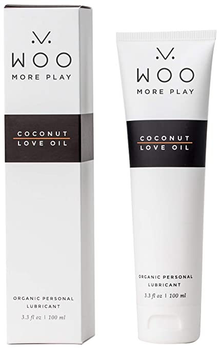 Woo More Play: Coconut Love Oil (3.3 oz) - Lubricant - Designed with Feminine Sensuality in Mind