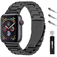 Ontube Bands Compatible with Apple Watch, Stainless Steel Link Bracelet Strap for Series SE/6/5/4/3/2/1 (38MM/40MM…