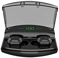 AQwzh Bluetooth 5.0 Wireless Earbuds with Upgraded LED Display Charging Case Stereo Sound Headset IPX5 Waterproof TWS...