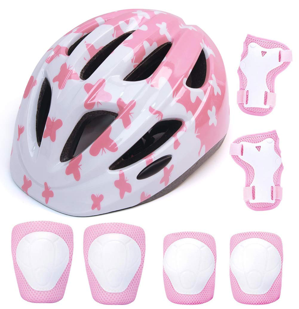 aomigell Kids Helmet Boys Girls Bike Helmet Child Helmet with Outdoor Sports Protective Gear Set Knee/Elbow/Wrist Pads for Bicycle, Rollerblades, Scooter, Skateboard, Rollerblades