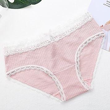 Rey&Qing Ropa Interior Femenina Niñas Pantalones De Cintura Transpirable Los Pantalones De Algodón En La Entrepierna
