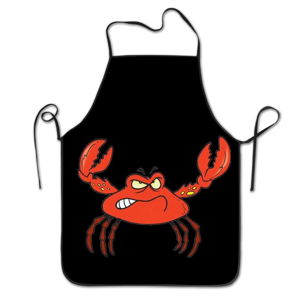 Angry Crabロックエッジ防水耐久性文字列調節可能お手入れ簡単料理エプロンキッチンエプロンレディースメンズのシェフ   B074ZGVN2D