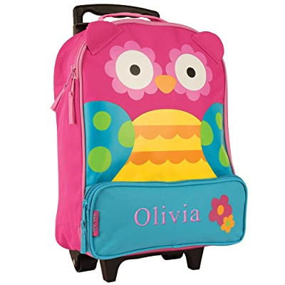 GiftsForYouNow Owl Personalized Rolling Luggage Bag