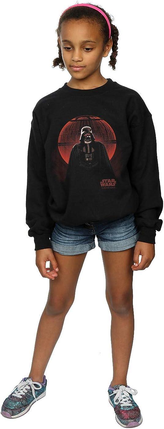 Star Wars Girls Rogue One Vader Death Star Glow Sweatshirt 12-13 Years Black