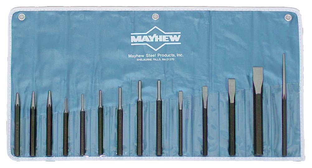 Wright Tool 9663 Mayhew #7014K Mechanics Punch and Chisel Kit, 14-Piece by Wright Tool