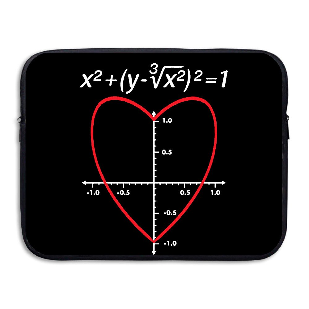 Love Heart Equation Math Briefcase Handbag Case Cover For 13-15 Inch Laptop, Notebook, MacBook Air/Pro