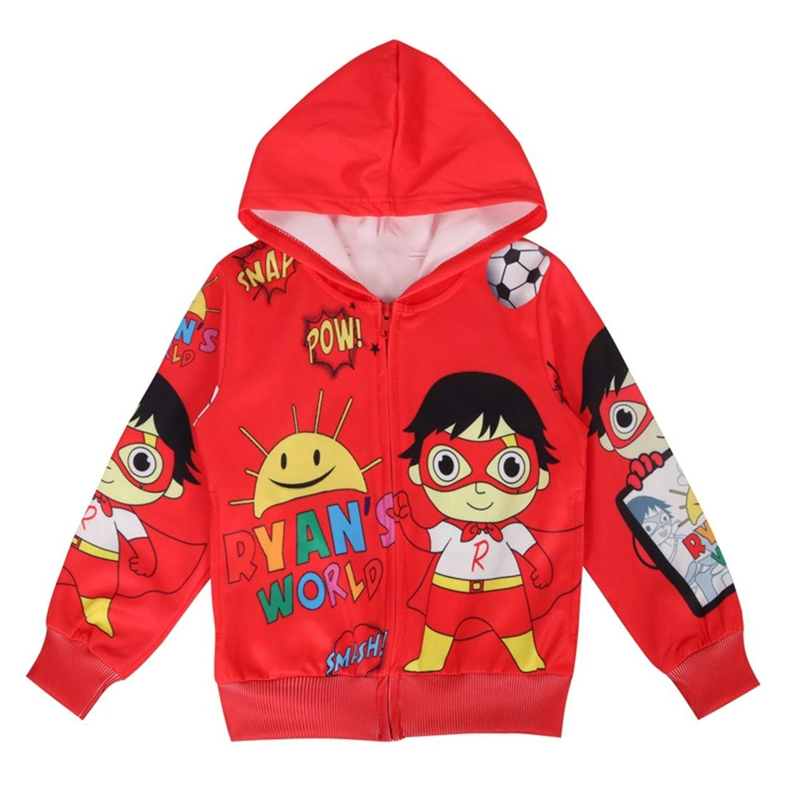 Thombase Ryans World YouTube Merch Toys Review Kids Hooded Jacket Cartoon Tops