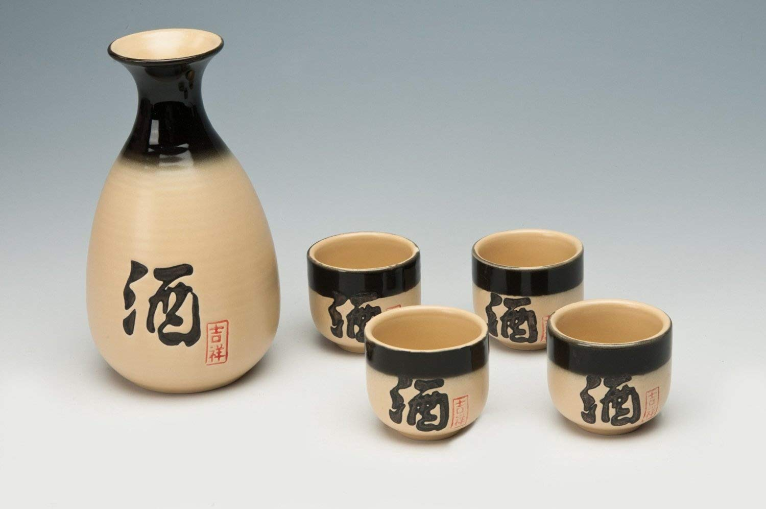 Handpainted Sake Set
