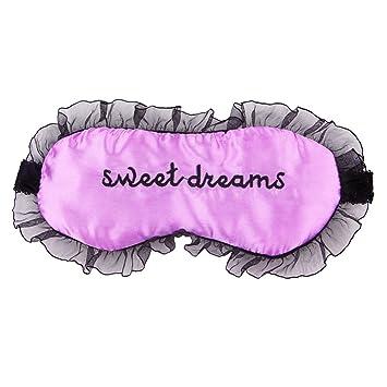 a60135ba9 Amazon.com   Lisli Comfort Silk Eye Mask for Sleep or Travel Comfortable-adjustable  Lace Mask (purple)   Beauty