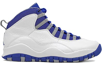 lowest price 1a89f 2240c ... switzerland amazon nike mens air jordan 10 retro txt royal blue leather  basketball shoes basketball ff8af