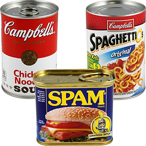 BigMouth Inc (Set) Spam, Campbell's, Spaghettios Cans Secret Safes Hide Your Valuables by BigMouth Inc