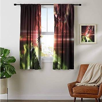 ZhiHdecor Customized Curtains Hulk and Iron Man Art 2f Microfiber Boys Room Curtains