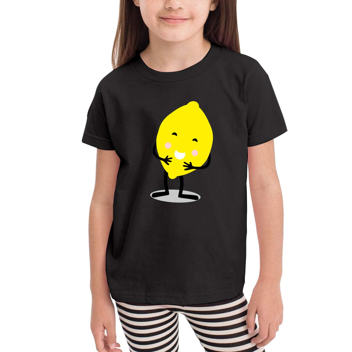 CERTONGCXTS Baby Girls Little Boys Yellow Lemon Cotton Short Sleeve T-Shirt Size 2-6