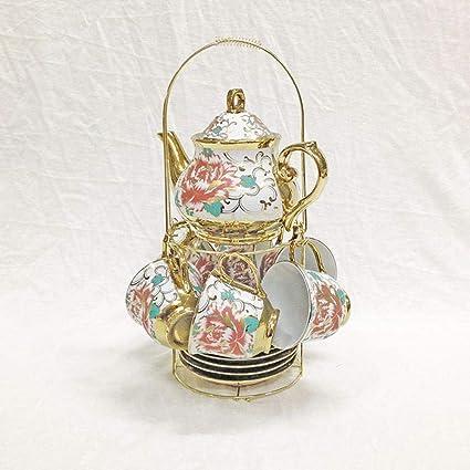 LFHKP Estilo Europeo galvanoplastia calcomanías cerámica fría Botella de Agua Set Regalo de Tetera de té