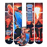 For Bare Feet Oklahoma City Thunder Starting Lineup Socks 1 Pair Men's Medium 5-10 - Russell Westbrook #0