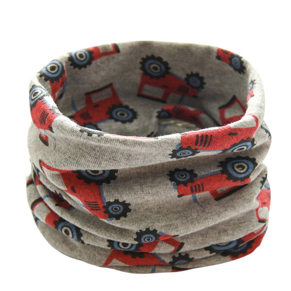 New Autumn Winter Boys Girls Baby Tractors Scarf Cotton O Ring Neck Scarves HIKO23