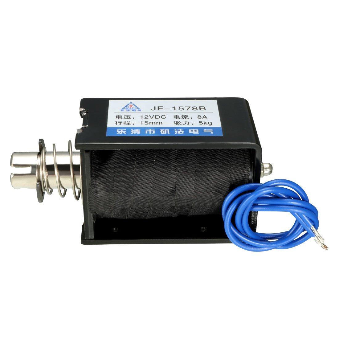 sourcing map DC 12V 300mA 1W 3.6W 10mm /électro-Aimant sol/éno/ïde Mouvement lin/éaire Push-Pull