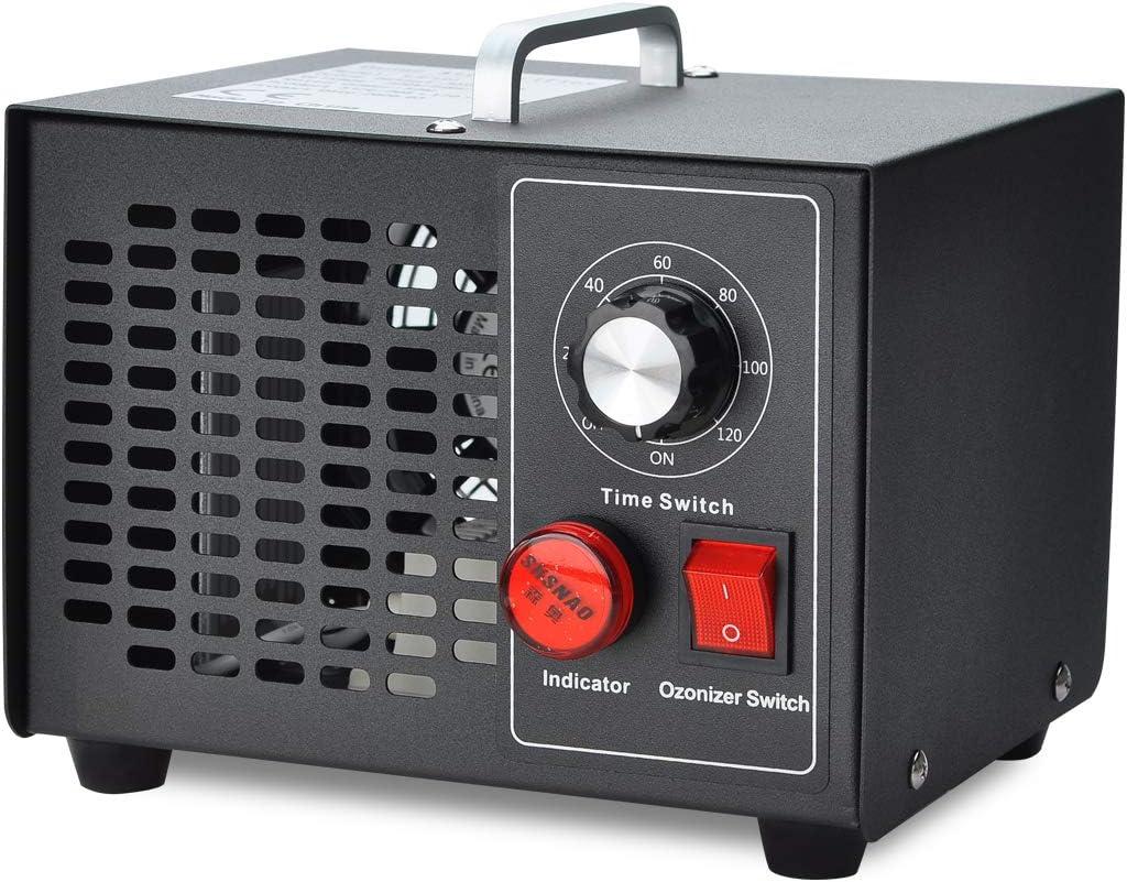 COVVY Generador de ozono comercial,esterilizador de purificador de aire móvil Ozone Machine O3,para el hogar,cocina,oficina,hotel,automóvil,barco,restaurante,tienda (3500mg/h)