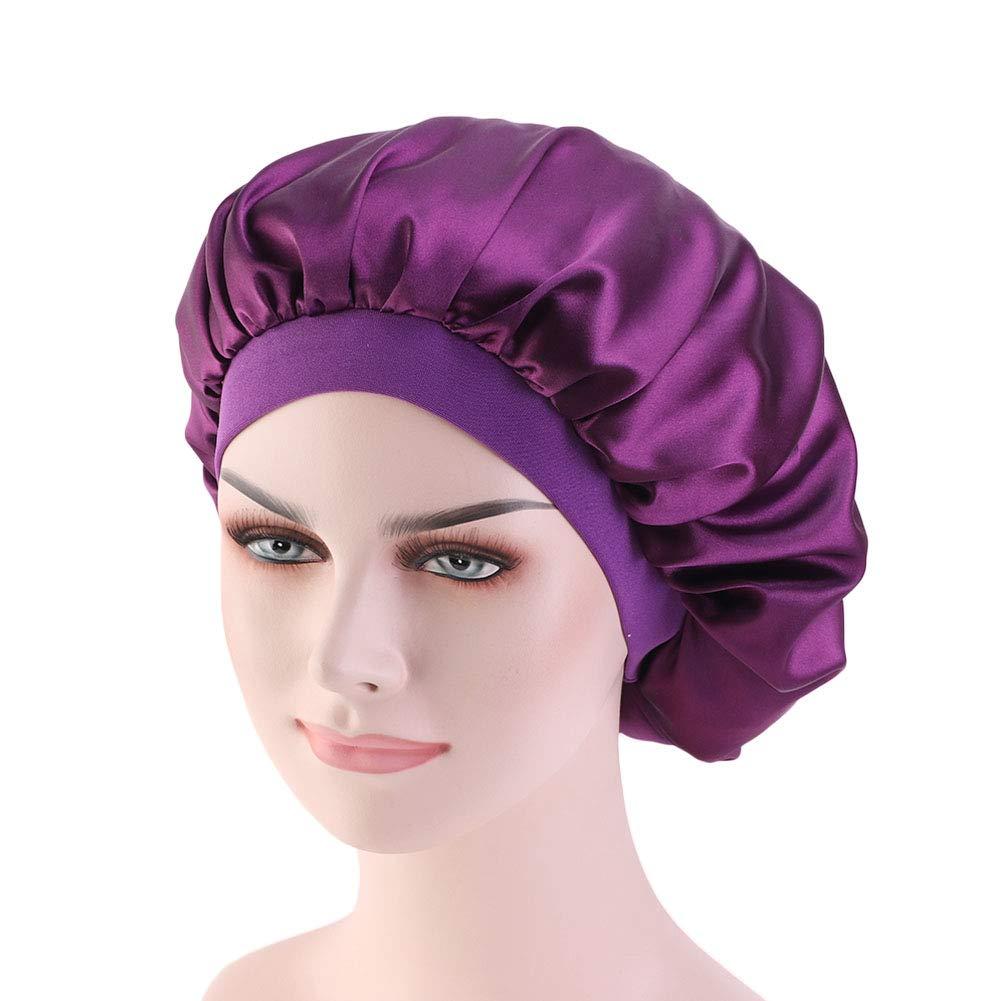 2x Damen Lady Seide Schlafmütze  Night Cap Haarpflege Mütze Schals