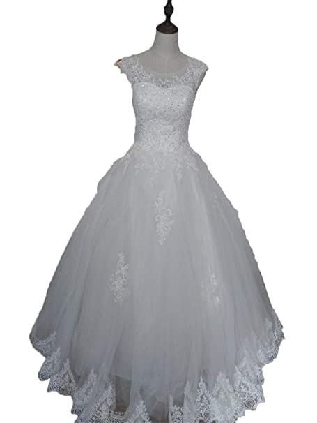 Beads Crystal Wedding Dresses Plus Size Formal Sweetheart ...