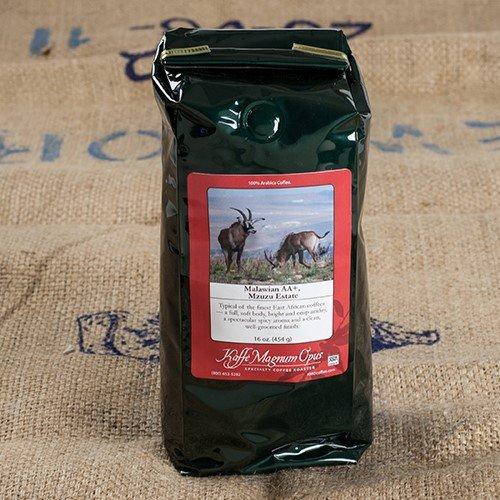Malawian AA+ Mzuzu Estate Whole Bean Coffee (1 pound)