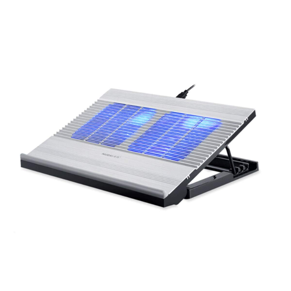 Compatible with 15.6-inch Notebook,Light and Stylish Hongyushanghang Notebook Cooler Color : Silver Metal Base Cooling Pad Heat Sink