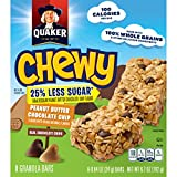 quaker yogurt chewy granola bars - Quaker Peanut Butter Chocolate Chip Chewy Granola Bars Reduced Sugar, 0.84 Ounce , 8 Count (Pack of 6)